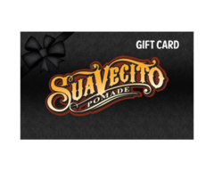 black giftcard with Suavecito logo